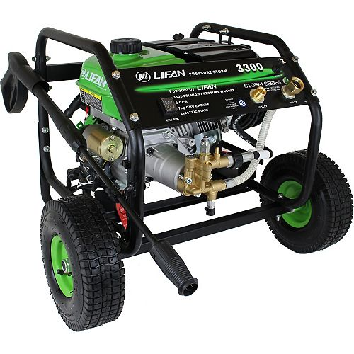 LIFAN Pressure Storm Series 3,300 psi 2.5 GPM AR Axial Cam Pump Recoil Start Gas Pressure Washer