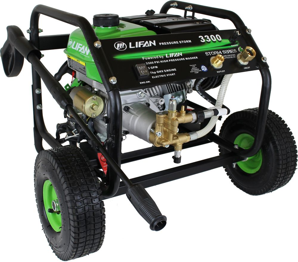 3,300-PSI 2.5-GPM AR Axial Cam Pump Electric Start Gas Pressure Washer with Panel Mounted Control...