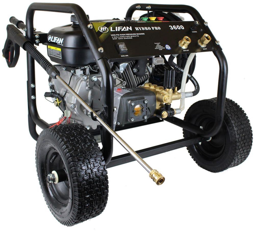 Nettoyeur HP à essence 3600 lb/po2 3,5gal/min, pompe à 3 pistons RRV AR, panneau de commandes