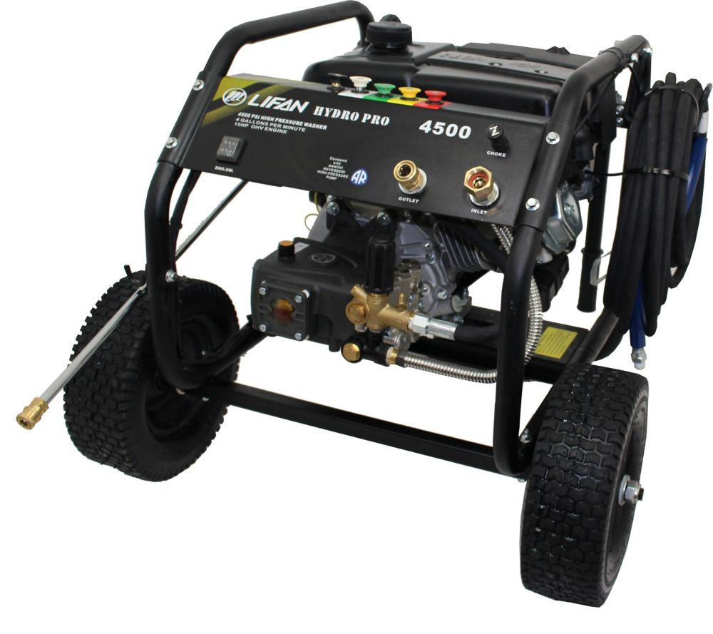 4,500-PSI 4.0-GPM Annovi Reverberi Tri-Plex RRV Pump Gas Pressure Washer, Panel Mounted Controls