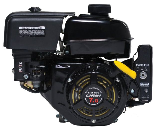 7HP Horizontal Shaft Electric/Recoil Start Engine