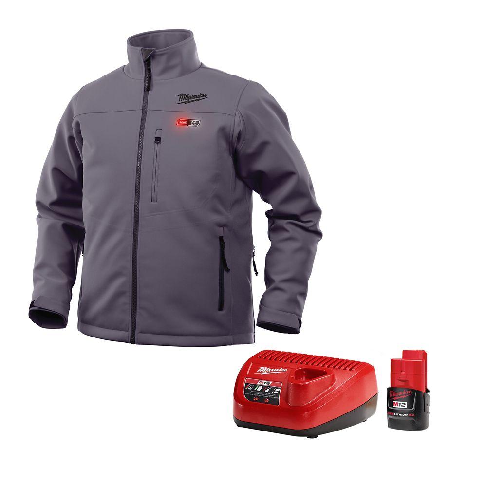 Ensemble de veste chauffante sans fil M12 gris L