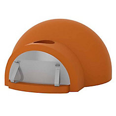 Dome & Hearth Wood Burning Outdoor Pizza Oven in Orange