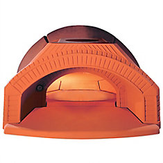 Arch & Base Wood Burning Outdoor Pizza Oven in Orange