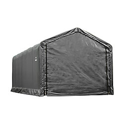 ShelterLogic ShelterTube 12 ft. x 30 ft. x 11 ft. Peak Style Garage/Shelter in Gray
