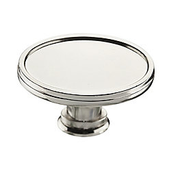 Richelieu Transitional Metal Knob  Polished Nickel - Mascouche Collection