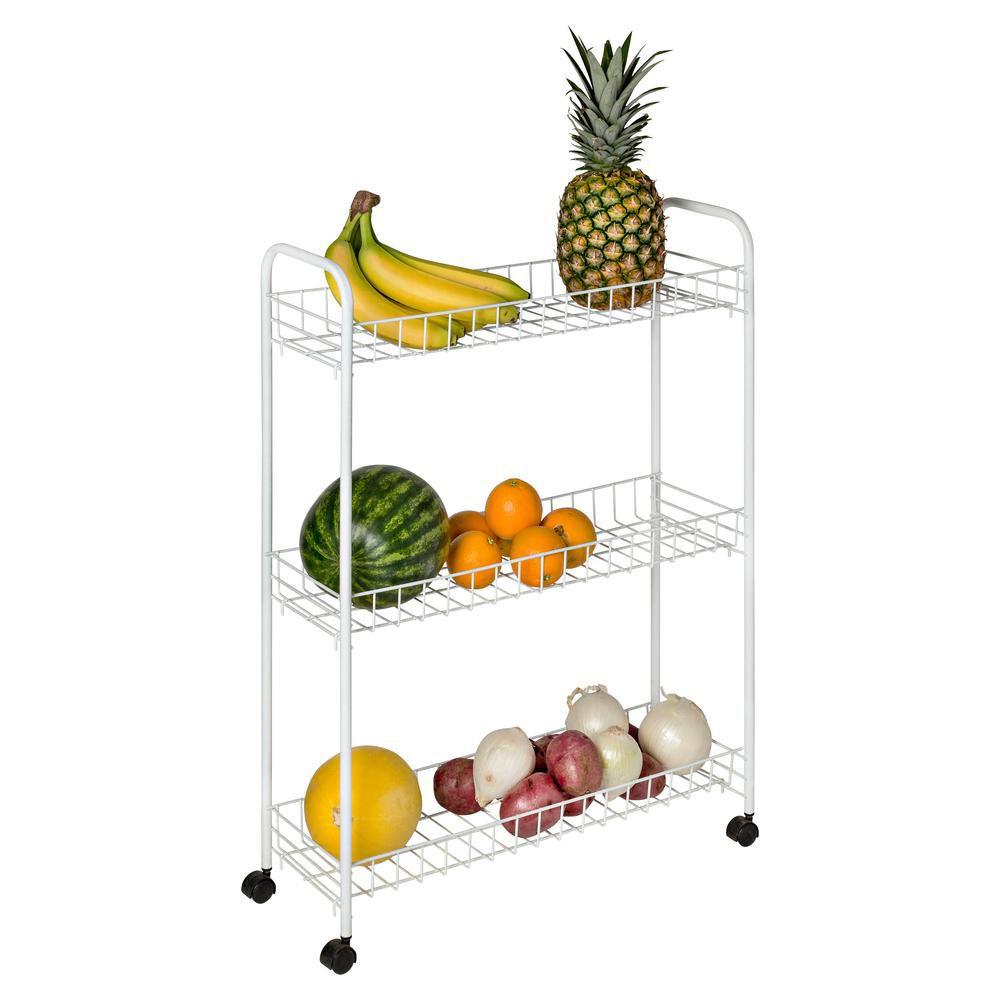 3-Tier Laundry Cart, White