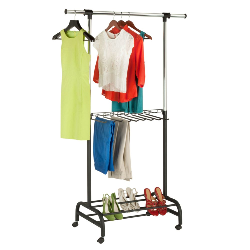 Honey-Can-Do International Adjustable Garment Valet and Rack