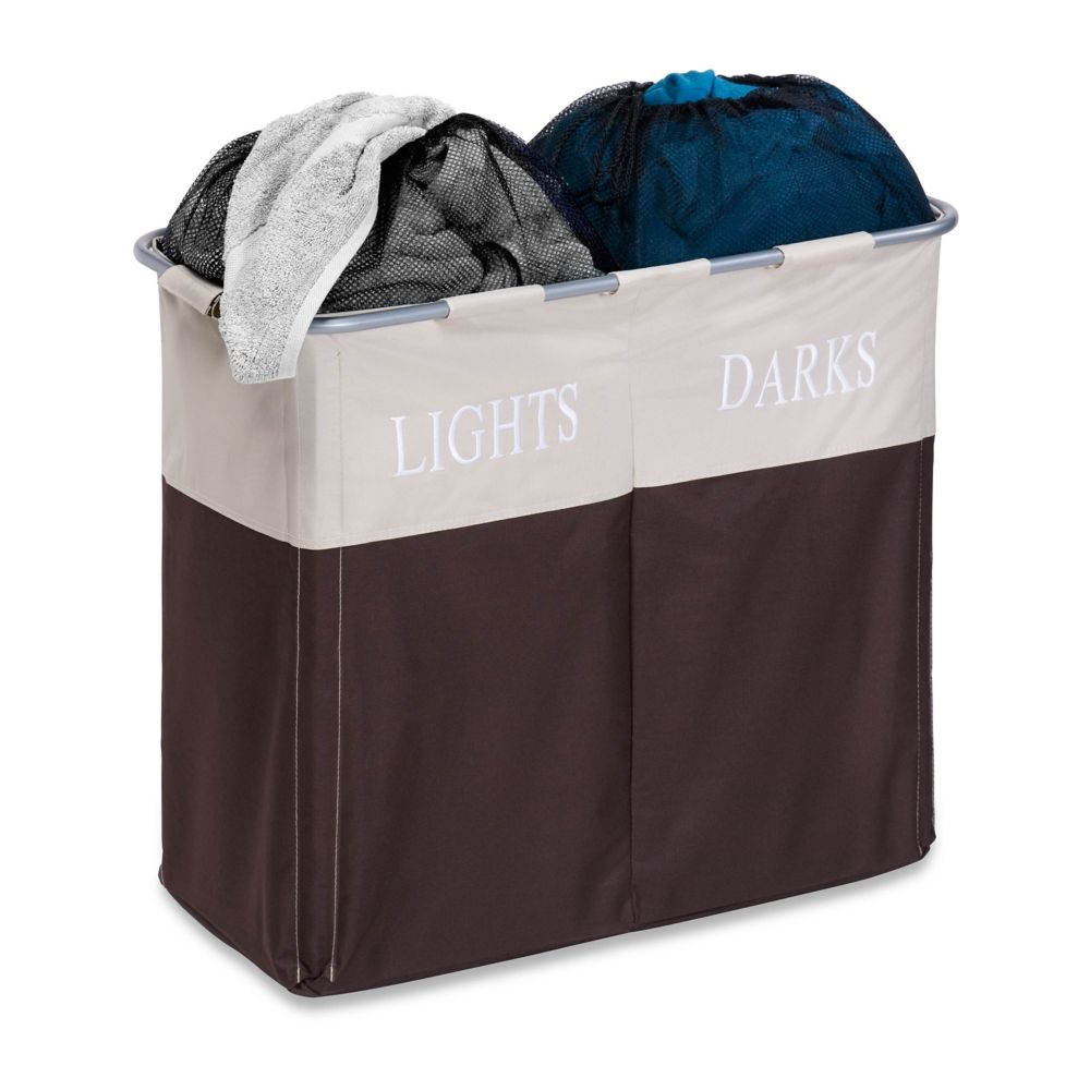Dual Compartment Light/Dark Hamper