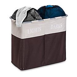 Honey-Can-Do International Dual Compartment Light/Dark Laundry Hamper