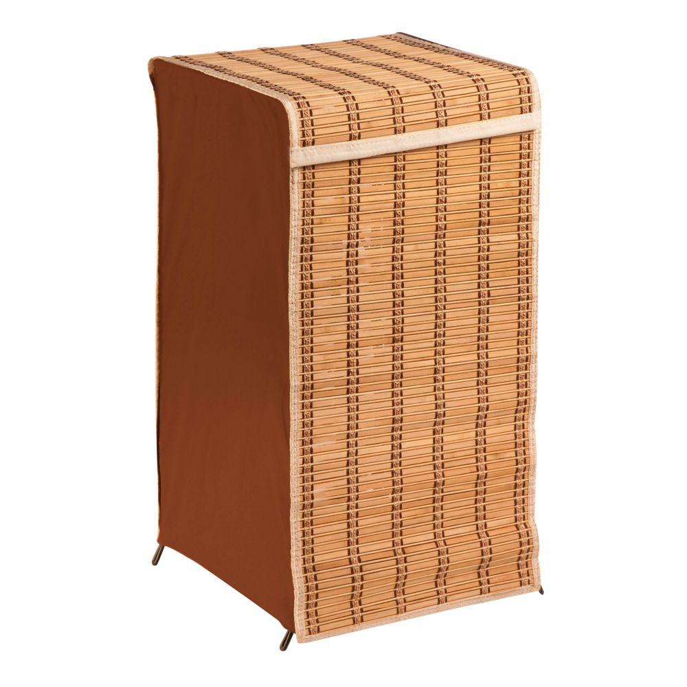 Tall Bamboo Wicker Weave Laundry Hamper