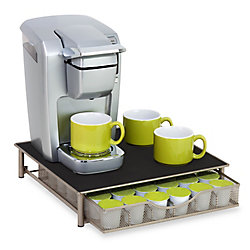 Honey-Can-Do International Single-Serve Coffee Brewer Stand with Pod Drawer