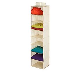 Honey-Can-Do International 8-Shelf Hanging Natural TC Organizer