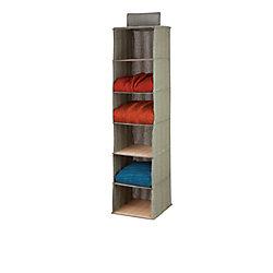 Honey-Can-Do 6 shelf hanging organizer - bamboo/moss