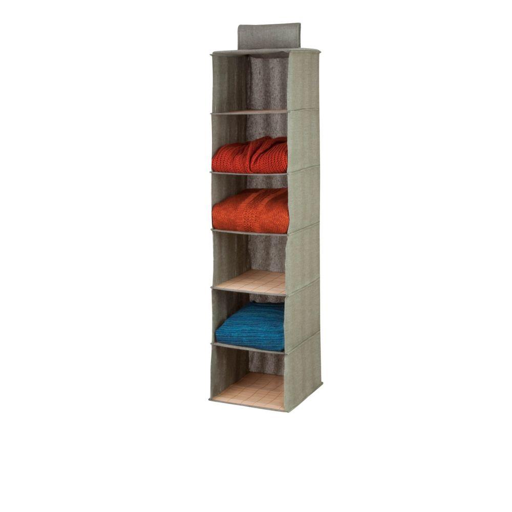 6 shelf hanging organizer - bamboo/moss