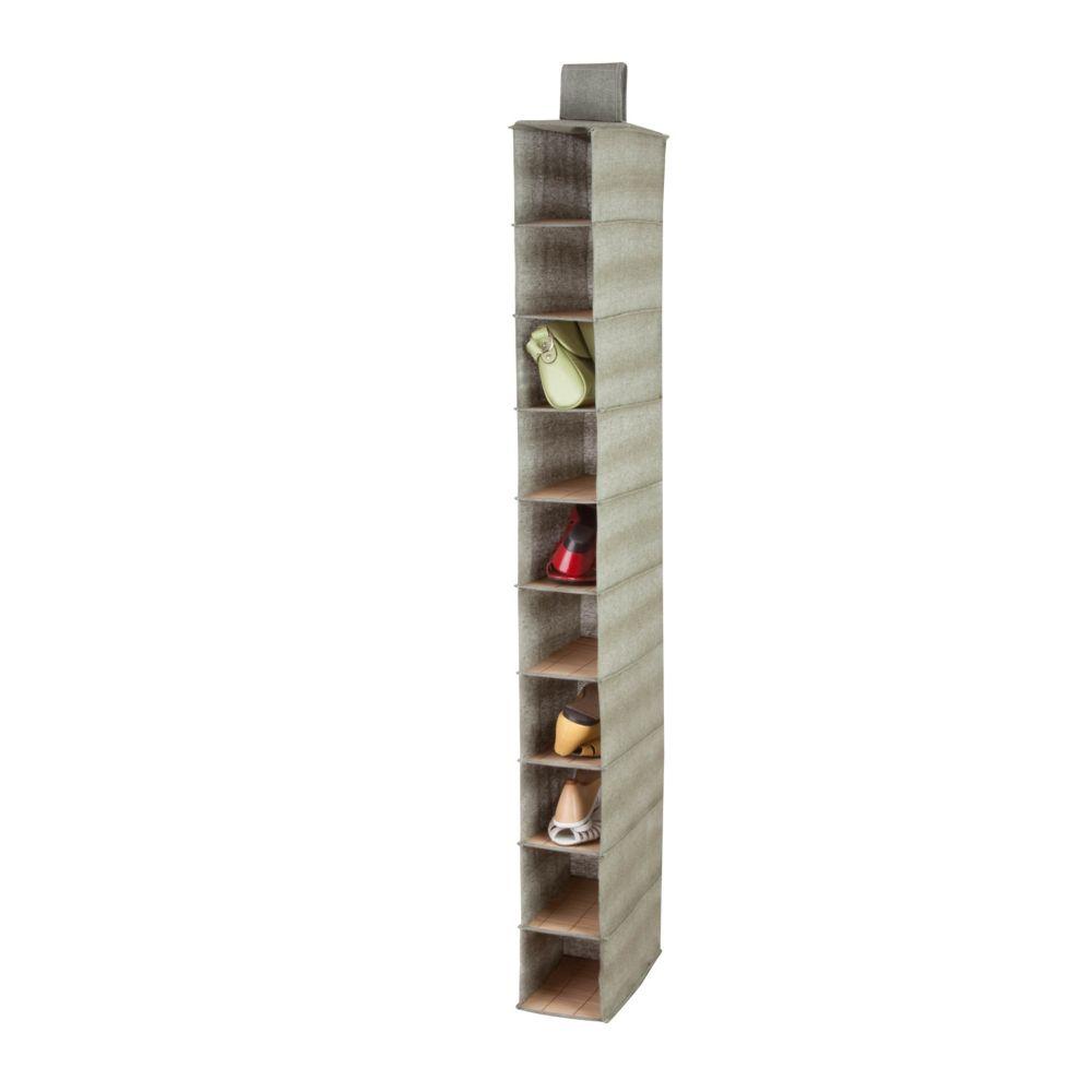 10 shelf shoe organizer - bamboo/moss