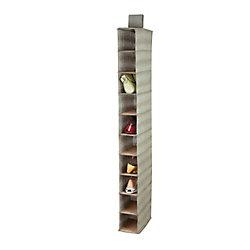 Honey-Can-Do 10 shelf shoe organizer - bamboo/moss