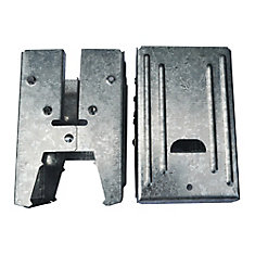 5.5-inch Galvanized Steel Compartment Sawhorse Brackets
