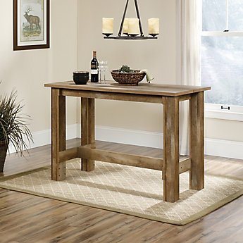 Sauder Boone Mountain Counter Height Dining Table In Craftsman Oak The Home Depot Canada