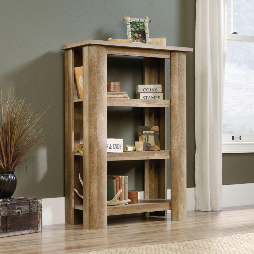 Sauder Boone Mountain 3-Shelf Bookcase in Craftsman Oak
