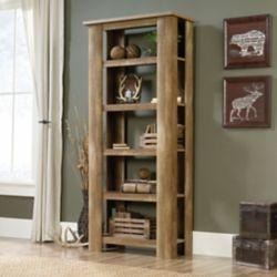 Sauder Boone Mountain 5-Shelf Bookcase in Craftsman Oak