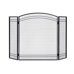 ShelterLogic Classic Black 3-Panel Fireplace Screen