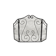 Hearth Accessories Fireplace Scrollwork Screen
