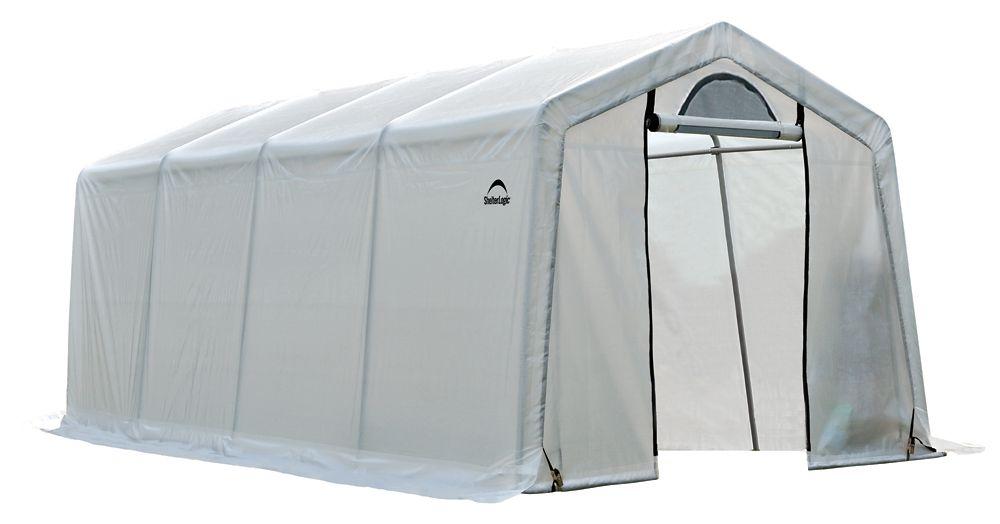 ShelterLogic 10 ft. x 20 ft. x 8 ft. Firewood Seasoning Shed
