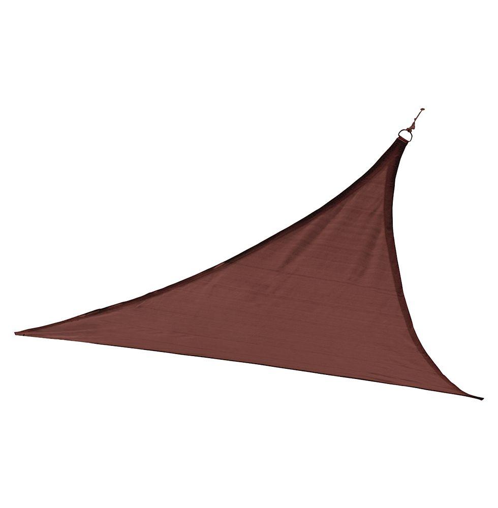 Triangle voile parasol ShelterLogic poids lourd de 4m - terre brûlée