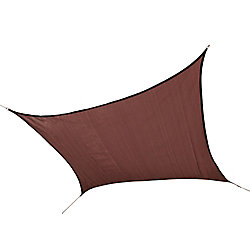 ShelterLogic 12 ft. Heavy Weight Square Sun Shade Sail in Terracotta
