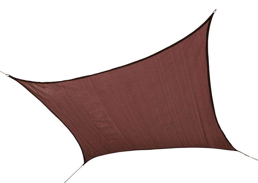 ShadeLogic Sun Shade Sail Heavy Weight 12  Feet  Square - Terracotta