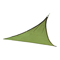 12 ft. Heavy Weight Triangle Sun Shade Sail in Lime Green