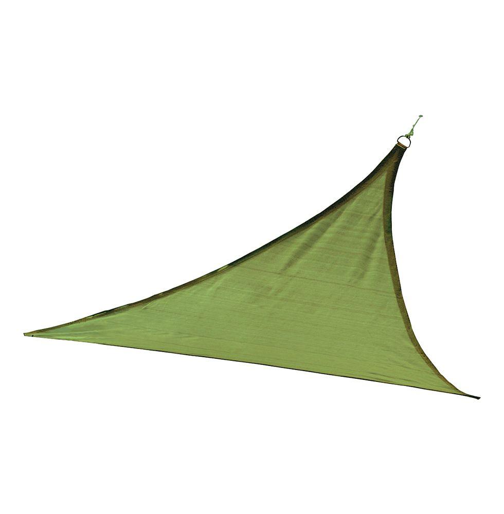 ShadeLogic Sun Shade Sail Heavy Weight 12  Feet  Triangle - Lime Green