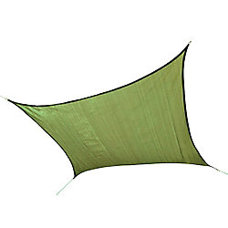 ShelterLogic 16 ft. Heavy Weight Square Sun Shade Sail in Lime Green