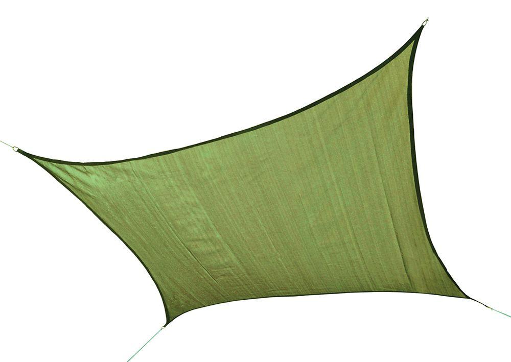 Carré voile parasol ShelterLogic poids lourd de 5m - vert citron