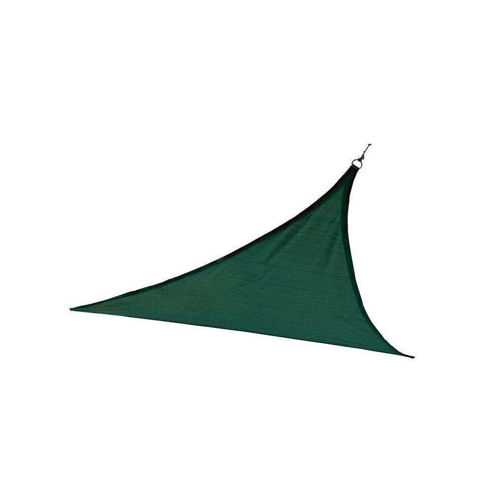 ShadeLogic Sun Shade Sail Heavy Weight 12  Feet  Triangle - Evergreen