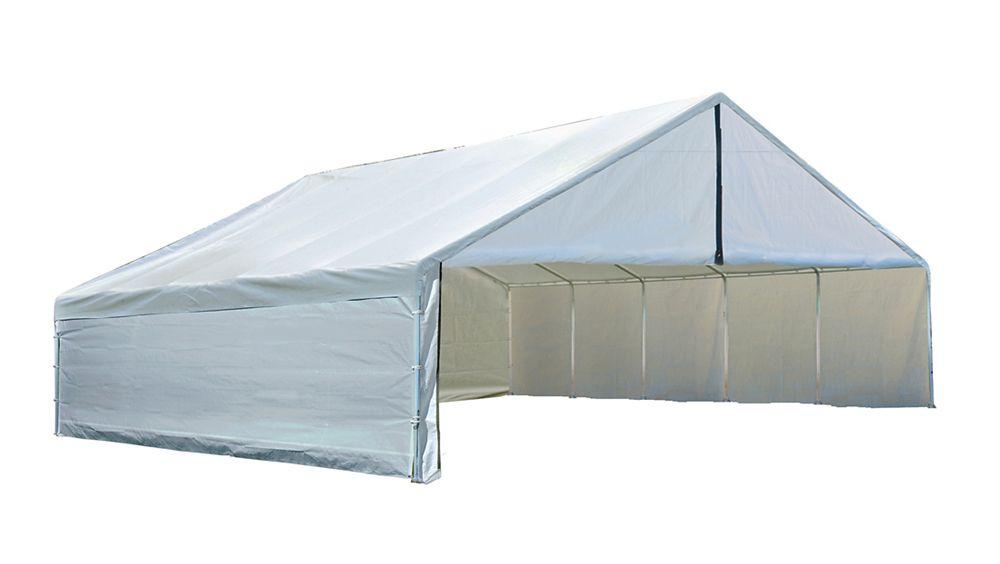 Ultra Max 30  Feet  x 30  Feet  White Industrial Canopy
