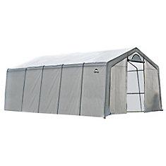 GrowIt 12 ft. x 20 ft. x 8 ft. Heavy Duty Walk-Thru Peak-Style Greenhouse
