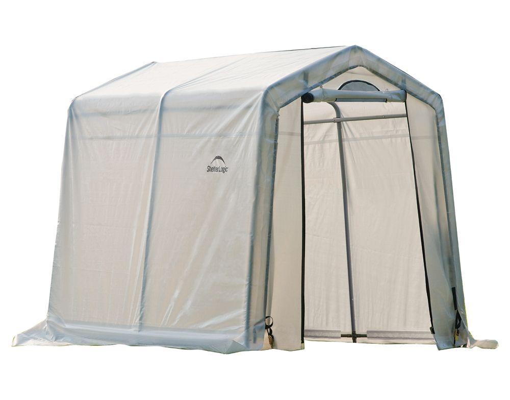 GrowIt Greenhouse-In-A-Box Easy Flow Greenhouse Peak-Style 6  Feet  x 8  Feet  x 6  Feet  6in
