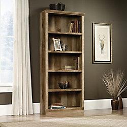 Sauder East Canyon 5 Shelf Bookcase in Craftsman Oak
