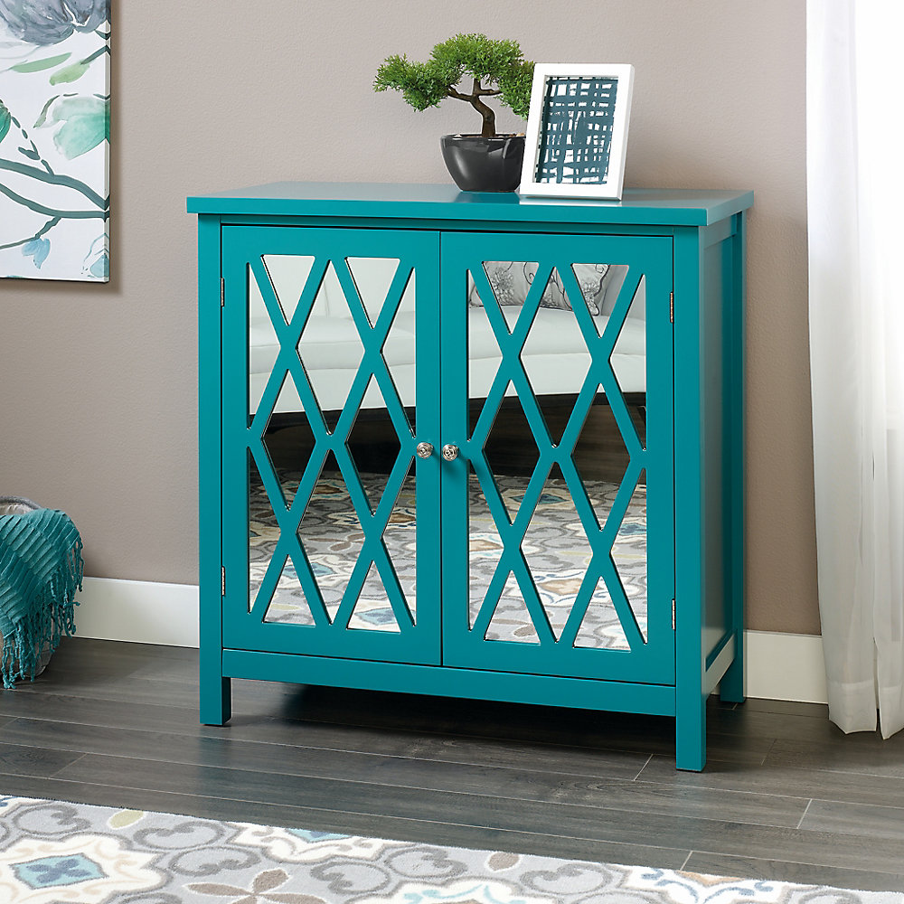 Harbor View Accent Storage Cabinet in Caribbean Blue