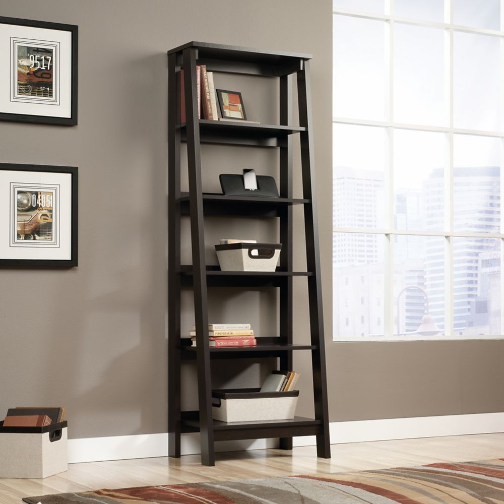 watch 81ea1 f7e2d Trestle 5-Shelf Bookcase in Jamocha Wood Finish