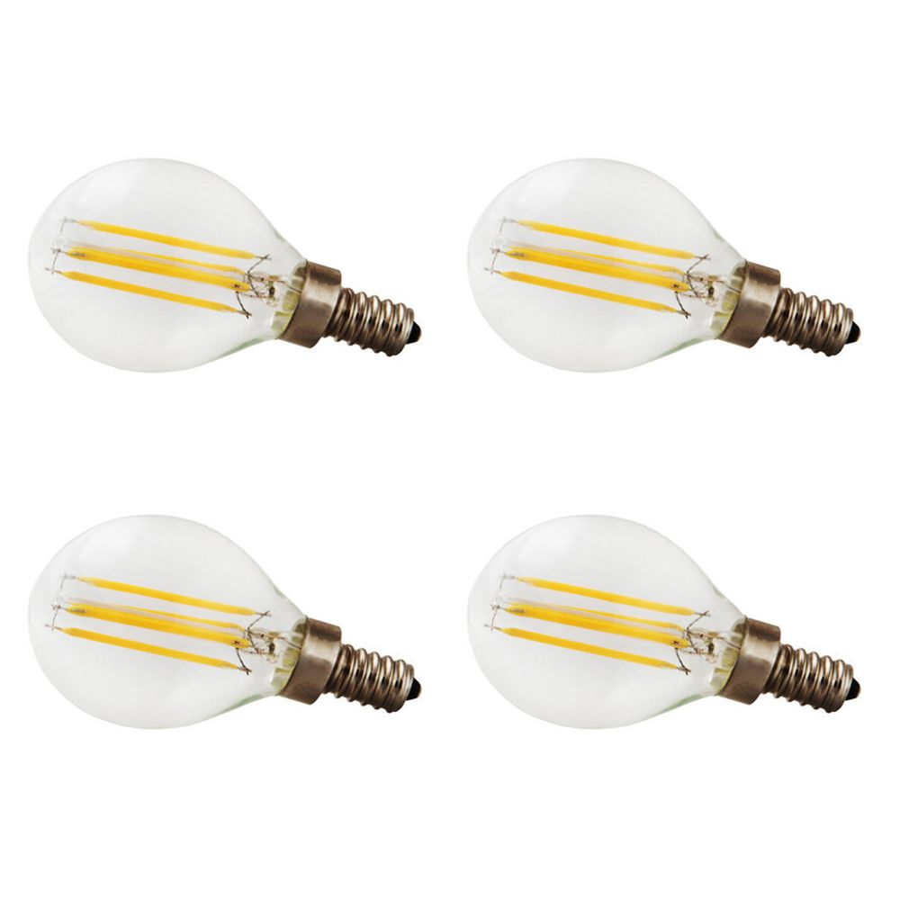 G12.5 4W =40W  400LM CRI90 Dimmable 2700k - 4pk