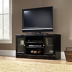 Sauder Regent Place Panel TV Stand in Estate Black