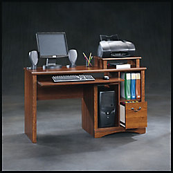 Sauder Meuble pour ordinateur Camden County en planche de merisier