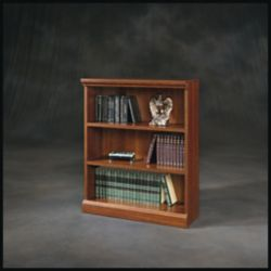 Sauder Camden County 3-Shelf Bookcase in Planked Cherry