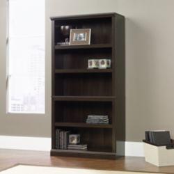 Sauder 5-Shelf Bookcase in Cinnamon Cherry