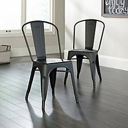 Sauder New Grange Dining Chair in Matte Black (Set of 2)