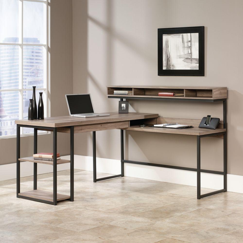 oakridge computer hutch reviews desk furniture with pdx beachcrest wayfair l desks shaped home