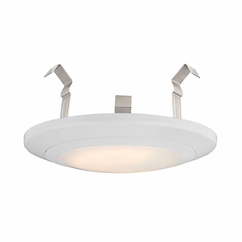 4-inch White Integrated LED Recessed Disk Light